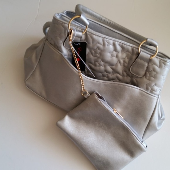 25cdd40ceb Essen Bella Bags | Tote Bag Silver Classic 2 In 1 Medium Womens ...